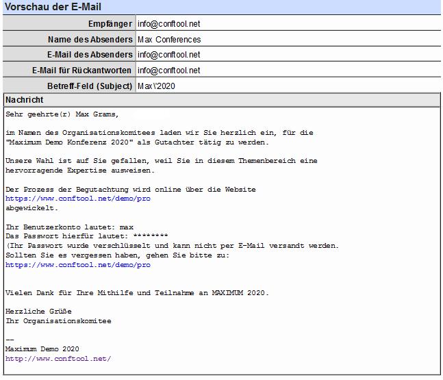 conftool senden von serien e mails mit conftool