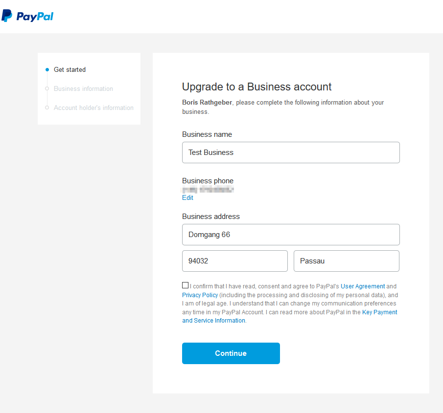 paypal empfangslimit