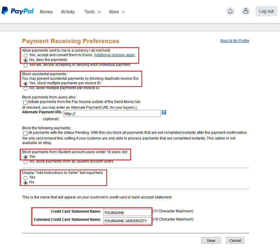 ConfTool: Configure PayPal for ConfTool Pro